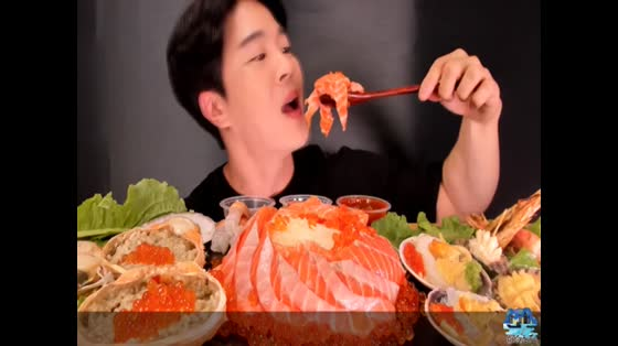 大胃王挑战吃海鲜!看了你也想吃!